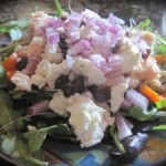 Chicken and Chevre Salad with Walnuts and Raisins