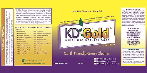 KD Gold's Concentrate Label