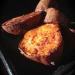Sweet and delicious baked sweet potato chunks